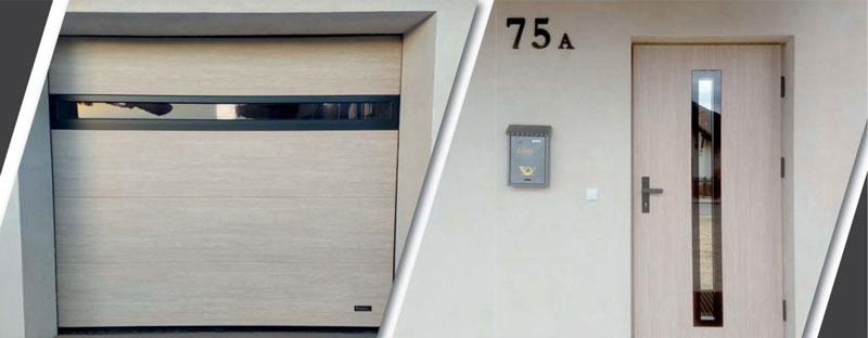 Brama garażowa segmentowa w kolorze dąb bielony - bramtech.com.pl